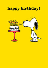 Happy Birthday Snoopy Cake Card