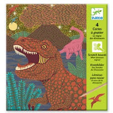When Dinosaurs Reigned Scratch Boards