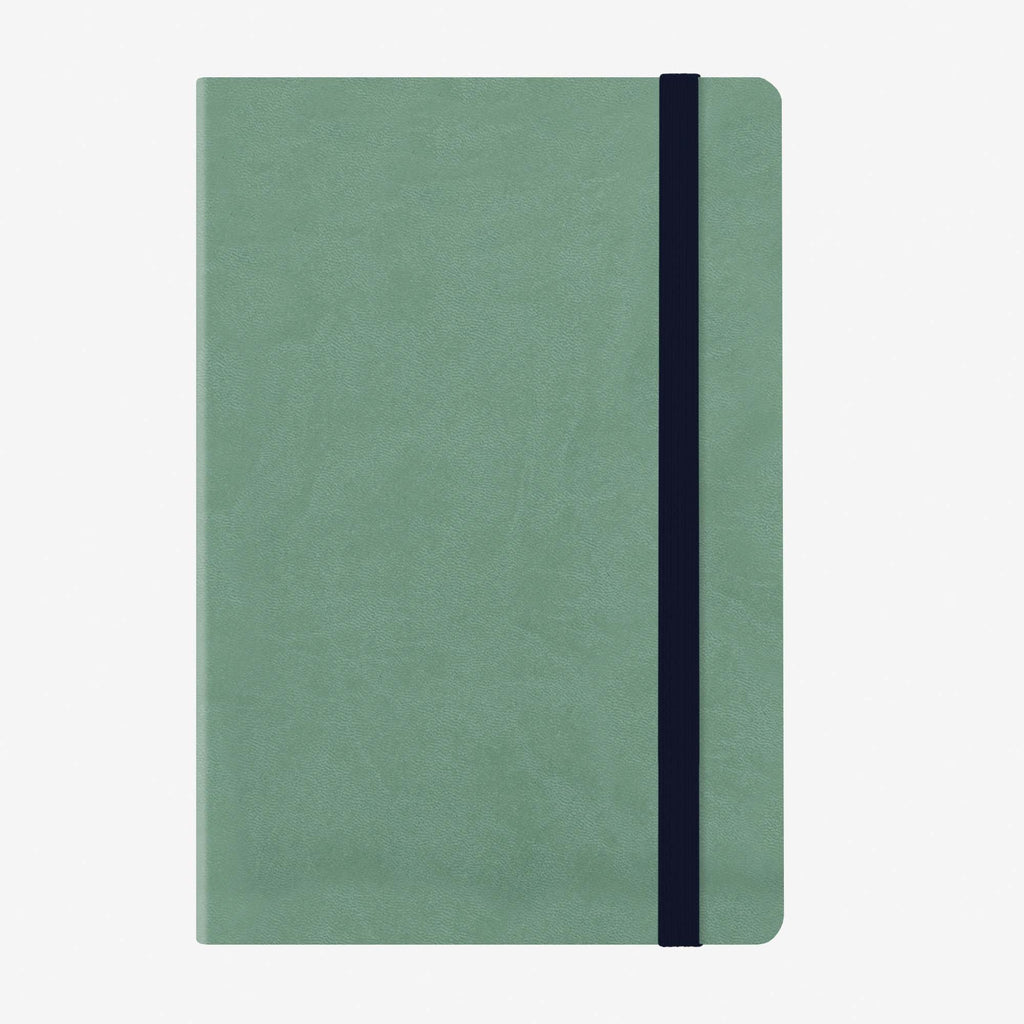 Medium Weekly Diary With Notebook 12 Month 2020 - Vintage Green