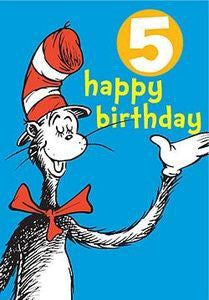 The Cat in the Hat Five Badge Card