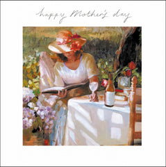 Happy Mother's Day Reading with Wine Card