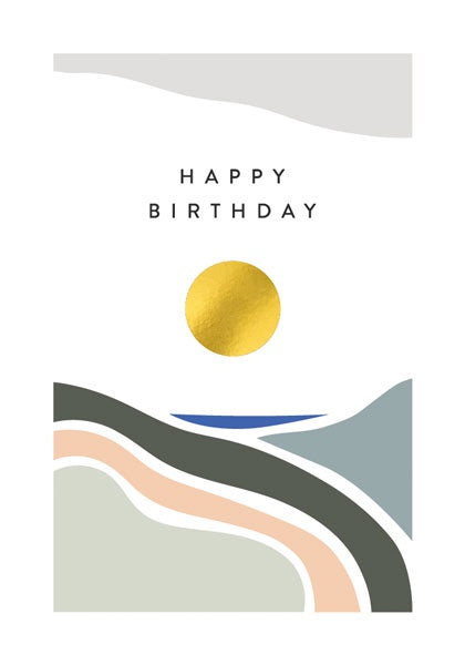 Golden Circle Birthday Card