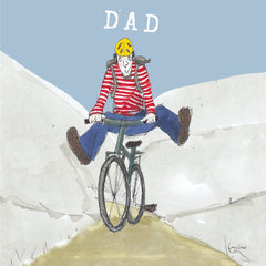 Dad on Bike Card