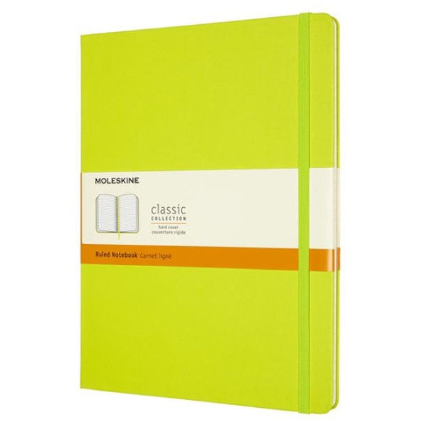 Moleskine XL Hardcover Ruled Notebook Lemon Green