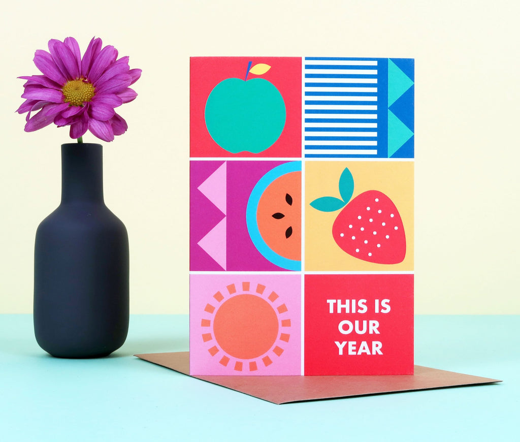 This is our Year Colour Block Card