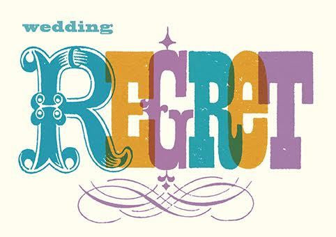 Wedding Regret Typography Card