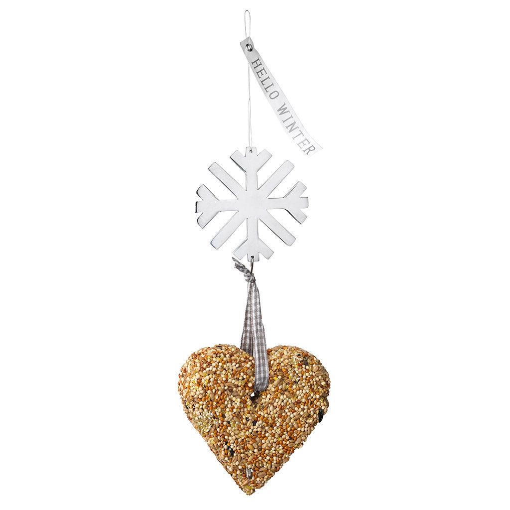 Hello Winter Snowflake Bird Food Ornament