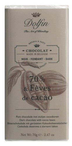 Dolfin Dark Chocolate Cocoa Nibs