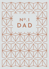 No1 Dad Patten Card