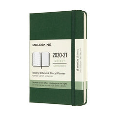 Moleskine 2020/21 Myrtle Green Academic Diary Pocket Hard Cover