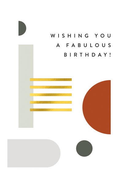 Fabulous Birthday Balance Card
