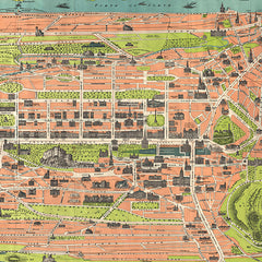 Vintage Map of Edinburgh and Leith Tea Towel