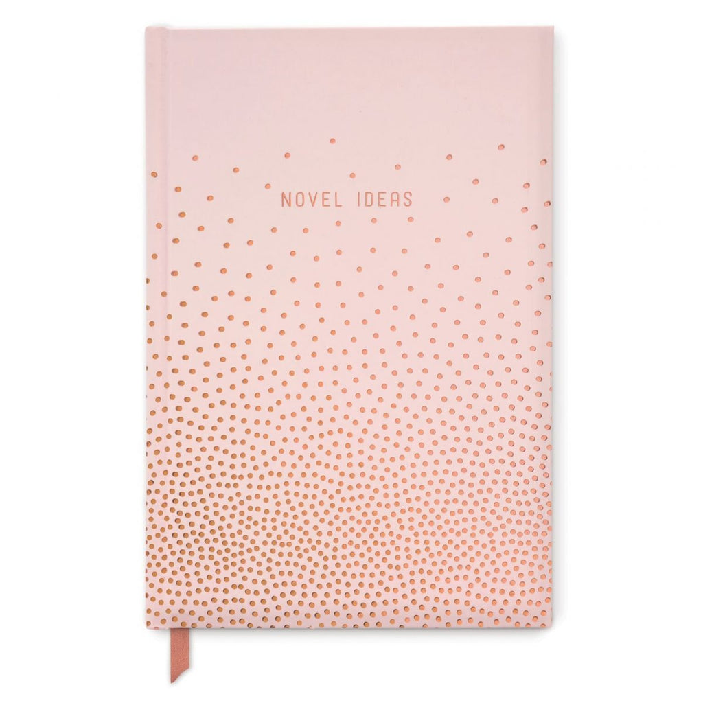 Novel Ideas Copper Dots Hard Cover Pink Journal