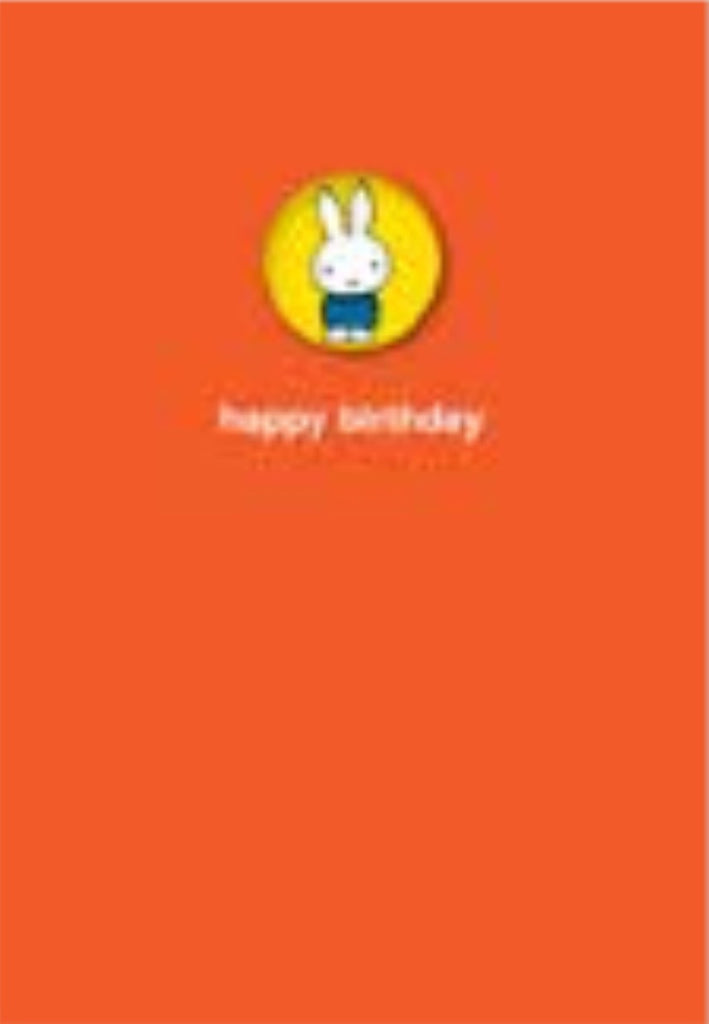Miffy Birthday Badge Card