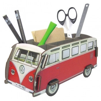 Red Volkswagen Camper Van Pen Box