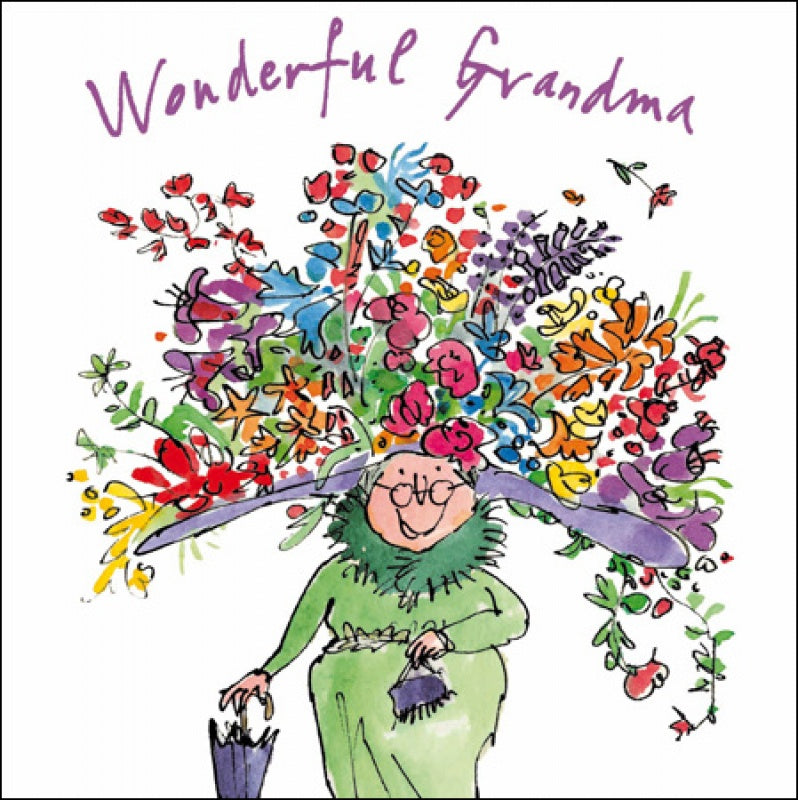 Quentin Blake Wonderful Grandma Mother's Day Card
