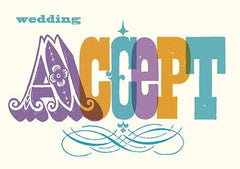 Wedding Accept Typography Card