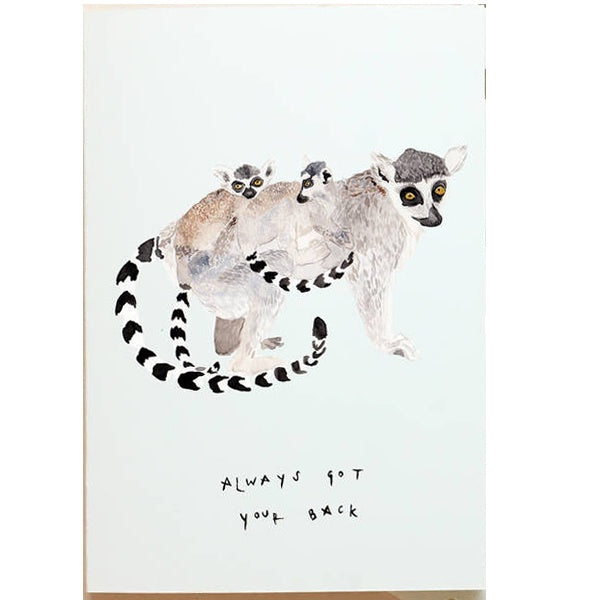 Lemur Always Got Your Back Mother's Day Card
