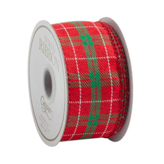 Red and Green Plaid Ribbon