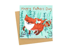 Happy Father's Day Fox Card