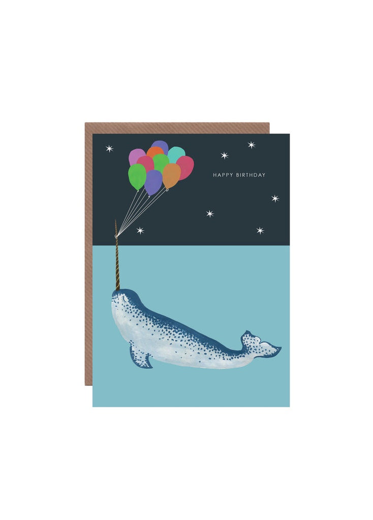 Happy Birthday Narwhal Card