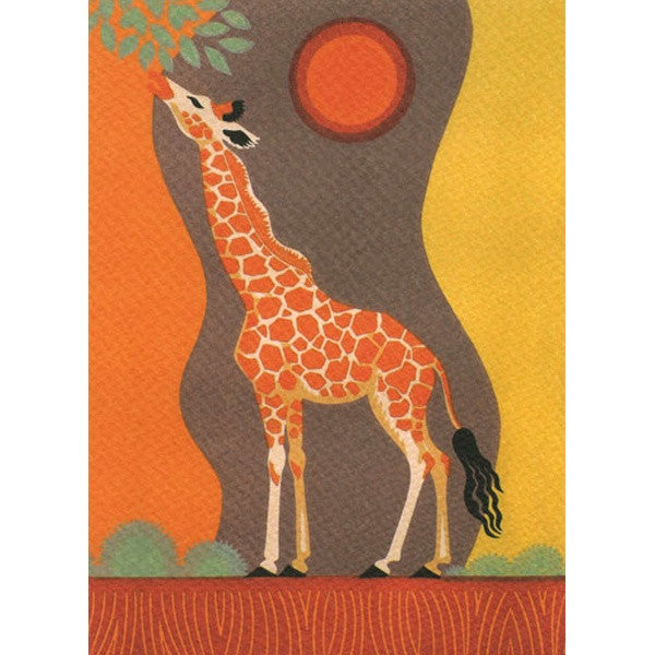Sunset Giraffe Card