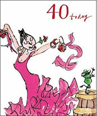 40 Today Quentin Blake Birthday Card for her