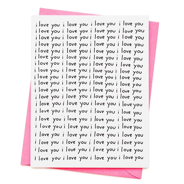 I Love You All Over Valentine's Day Card