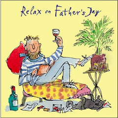 Relax On Father's Day Quentin Blake Card