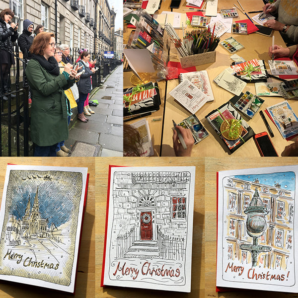 Moleskine Christmas Card Workshop with Edinburgh Sketcher 'Sketch Your Own Christmas Cards' - 17th November 12.30pm