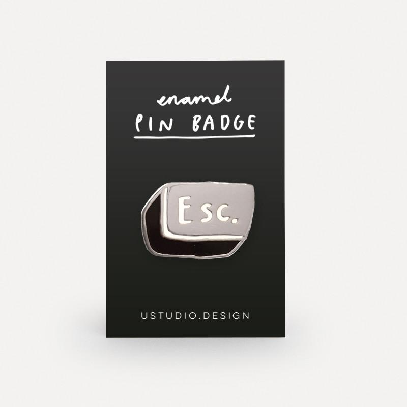 ESC Button Pin Badge
