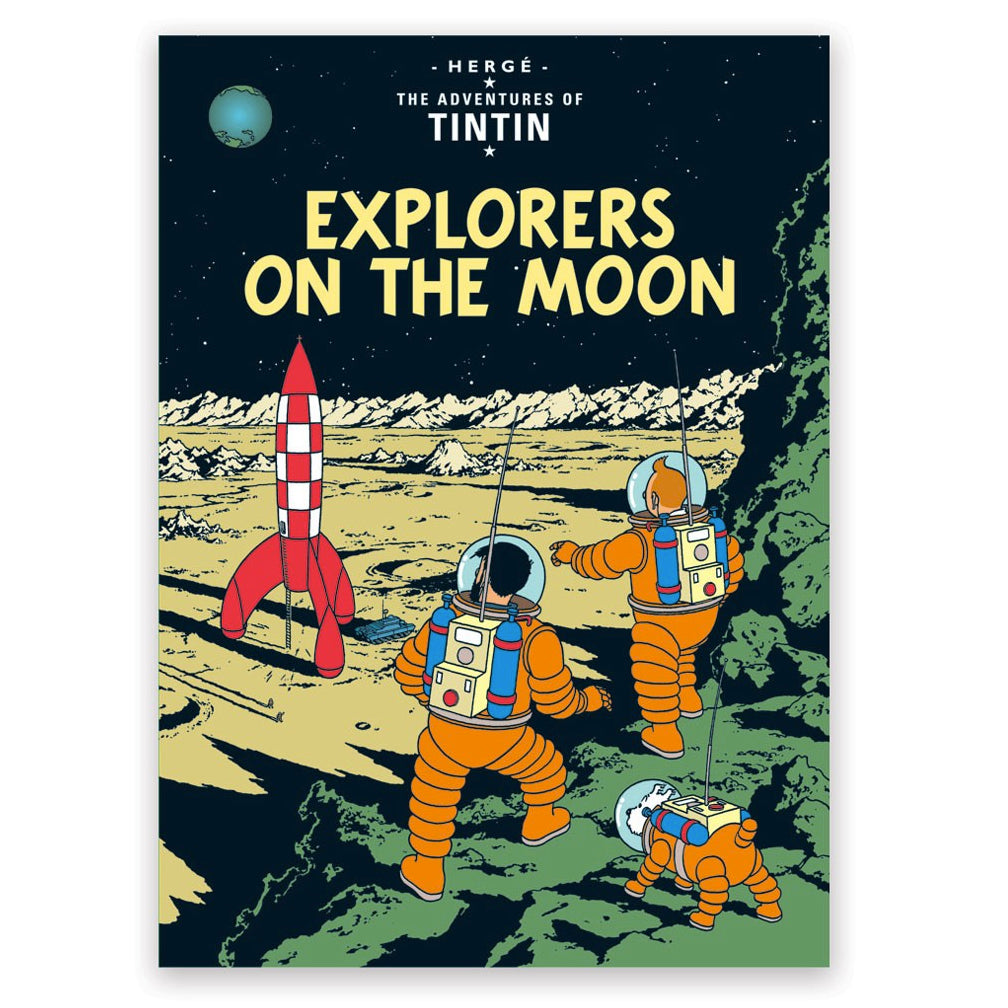 Explorers on the Moon Postcard
