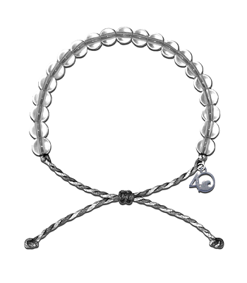 4Ocean Shark Awareness Grey and White Bracelet