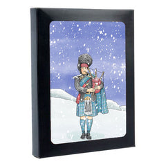 Tartan Piper Box of 6 Christmas Cards