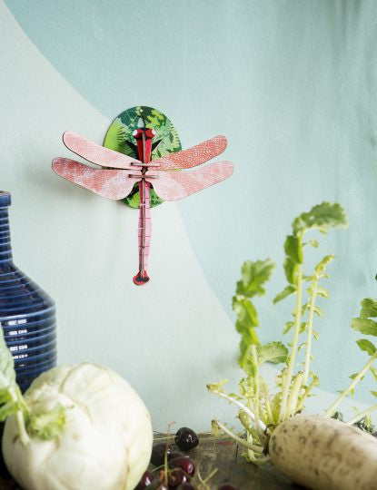 Pink Dragonfly Wall Decoration