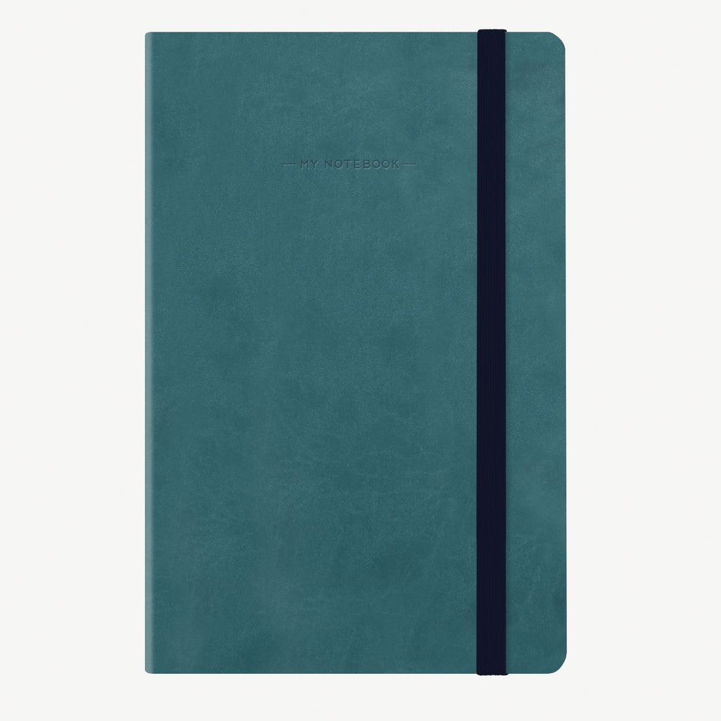Medium Dotted Petrol Blue Notebook