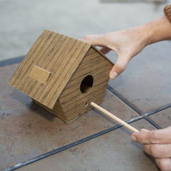 DIY Log Cabin Bird House