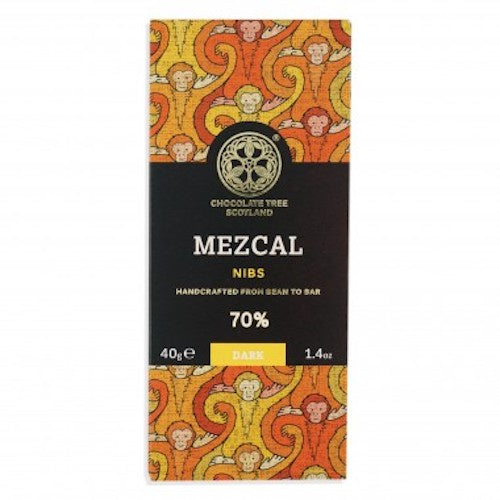 Bean To Bar Dark 70% Mezcal Nibs 40g