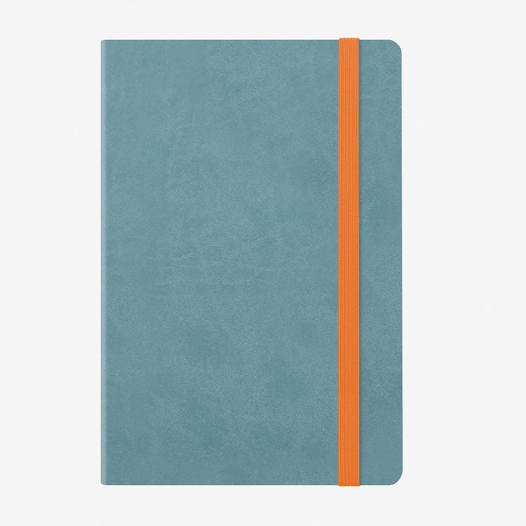 Medium Weekly Diary With Notebook 12 Month 2020 - Blue-grey