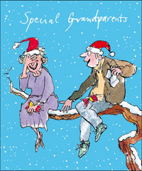 Quentin Blake Special Grandparents Christmas Card