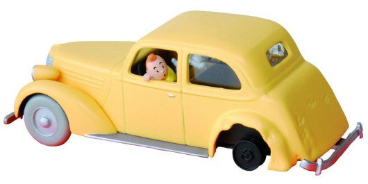 Tintin Yellow Crashed Car