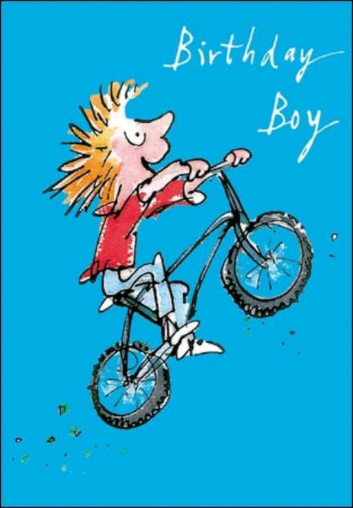 Wheelie Quentin Blake Birthday Card