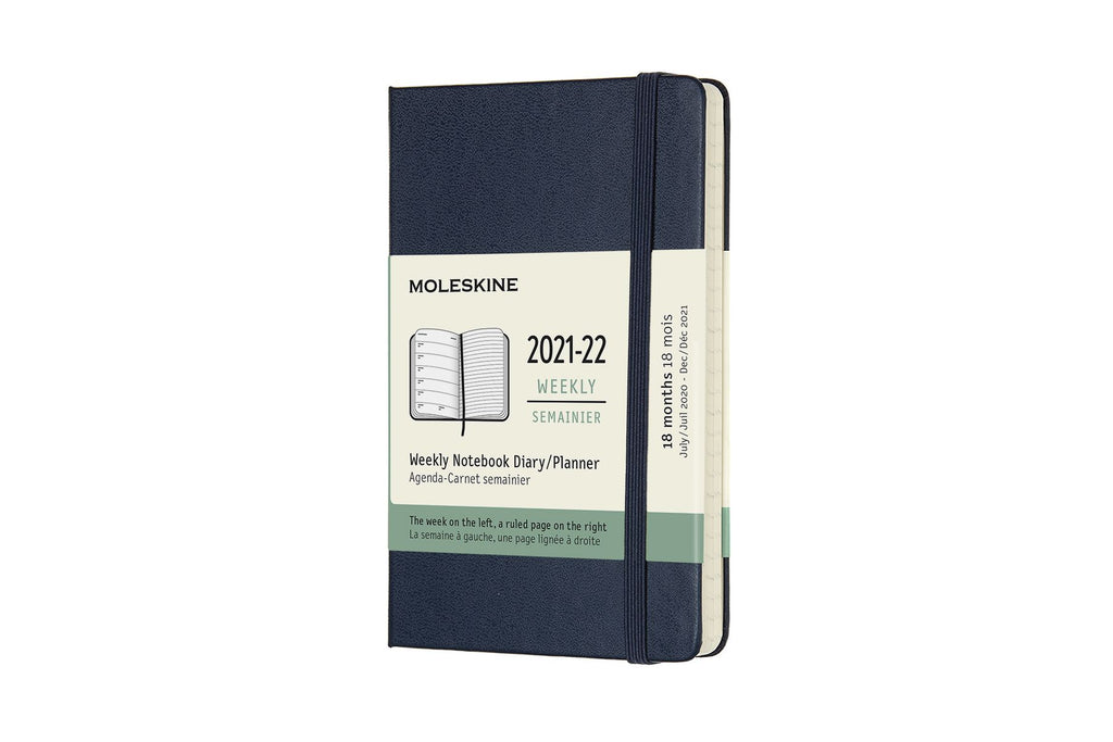 2021-22 Weekly Planner Pocket Hardcover Sapphire Blue