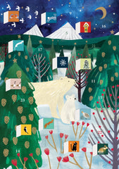 Polar Bear Christmas Advent Card