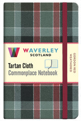 Tartan Cloth Notebook - Gordon Red Weathered