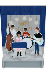 Indie Band Pop and Slot Birthday Scene and Card