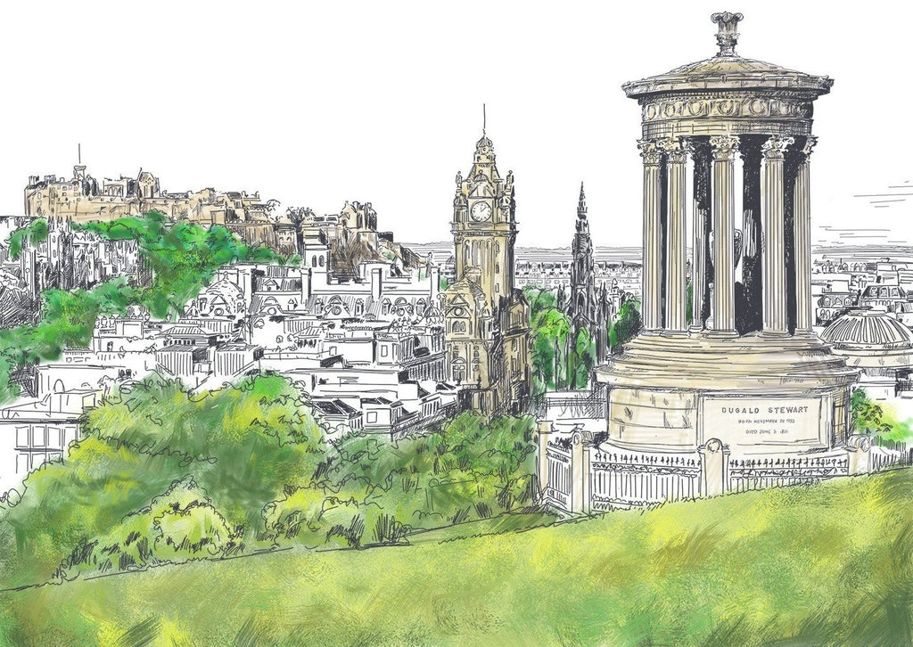 Calton Hill Edinburgh Card
