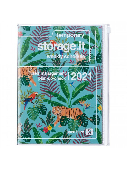 Storage Cover Blue Jungle 2021 Diary