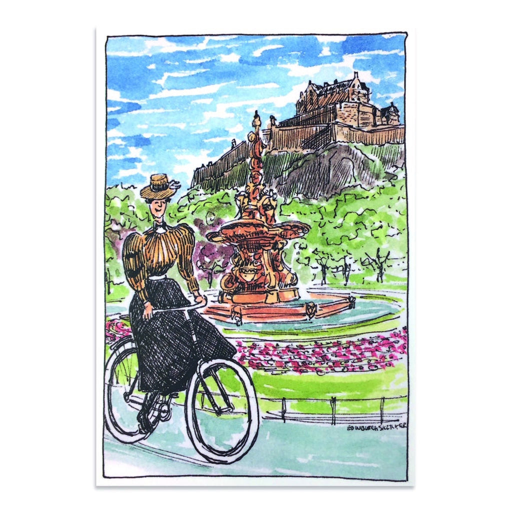 Victorian Cycles Princes Street Gardens Post Card