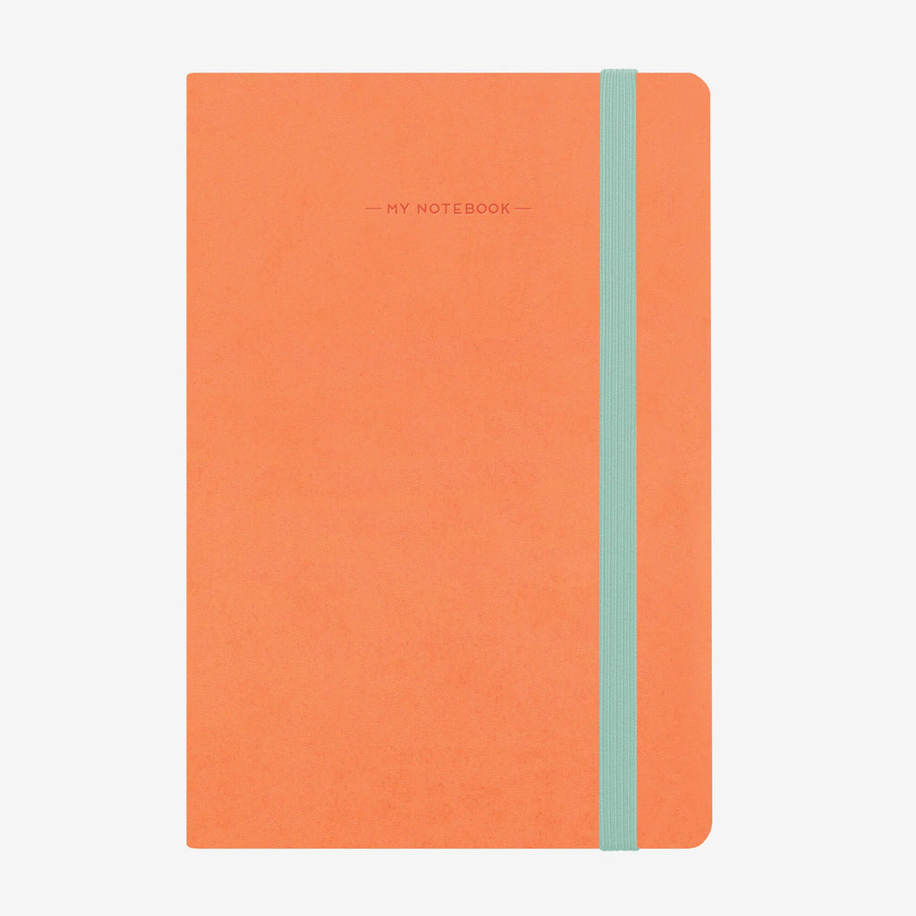 Medium Squared Salmon Notebook